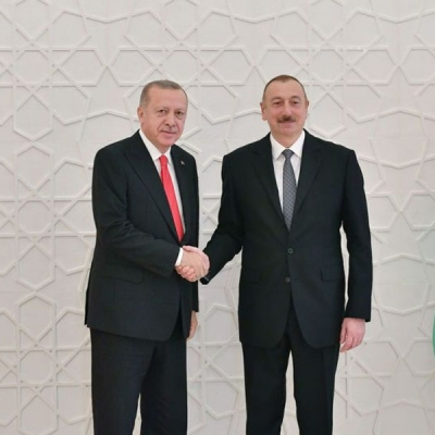 President of Turkey arrives in Baku