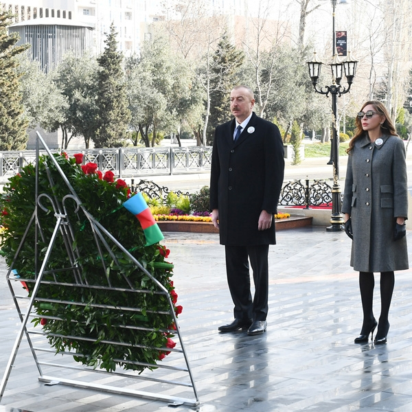 President and First Lady commemorate Khojaly tragedy victims